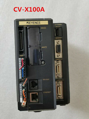 KEYENCE CV-X100A with CV035M CA-LH35 CA-DRW5 CA-CN tested and used