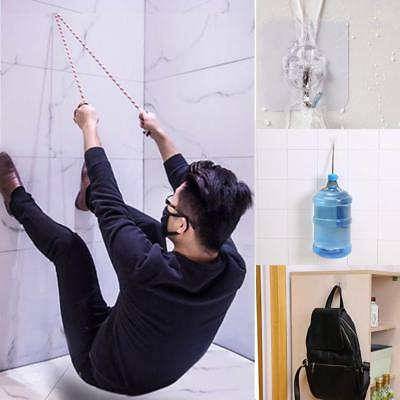 6 Pcs Super Strong Wall Hooks Transparent Suction Cup Sucker Hanger for Bathroom