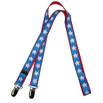 New CTM Kids' Elastic One Piece Adjustable Mitten Clips with American Stars