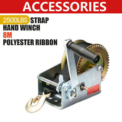 2500LBS/1136KGS 2-Speed Strap Hand winch For Trailer, Boat and 4WD