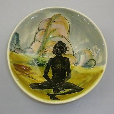 Martin  Boyd Handpainted Bowl Decorated  With A  Seated Aboriginal Women