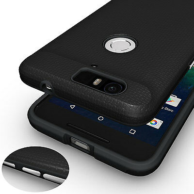 For Huawei Nexus 6P Shock-proof Armor Hybrid Dual Layered PC + TPU Cover Case