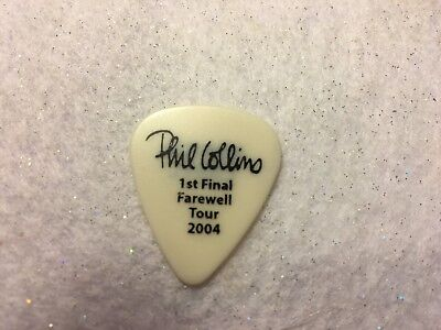 GUITAR PICK  Ronnie Caryl - Phil Collins 1st Final Tour tour issue pick - No lot