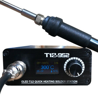 T12-952 STC OLED 108W Soldering Iron Station Weld Tips Stand Kit Digital Display