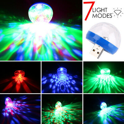Portable Mini USB Disco Light LED 7-Colour Magic Twinkle Lamp for Computer Phone