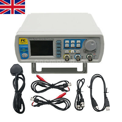 FY6800 60M DDS Dual channel Function Signal Arbitrary Waveform Generator UK SHIP