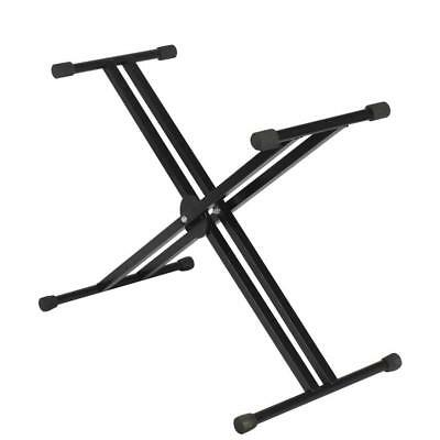 Adjustable X Stand Rack for Music Keyboard Electric Piano Organ Dual Tube
