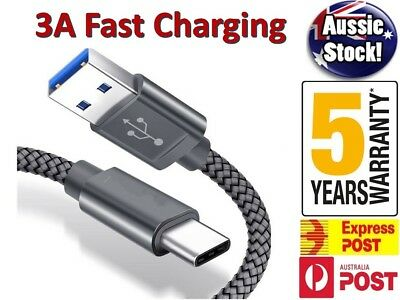 USB Type C Fast Charging Charger Cable Samsung Galaxy S8 S9 S10 Note 10 Plus