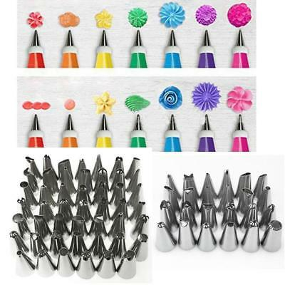 24Pcs/48Pcs Stainless Steel Cupcake Cake Decorating Icing Piping Nozzle Tips Set