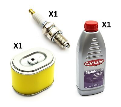 Non Genuine Air Filter + Spark Plug + 1 Ltr Oil Fits Honda GX160 Engine GoKarts