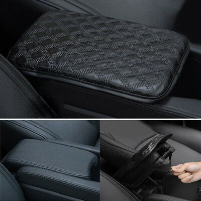 UK Universal Auto Car Armrest Box Mat PU Leather Console Pad Memory Foam Cushion