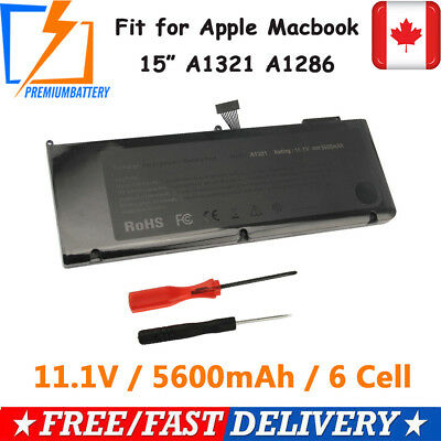 A1321 Battery for Apple Macbook Pro 15 inch A1286 ( Mid 2009 2010) MC372LL/A p