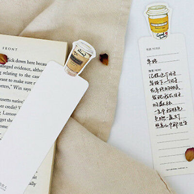 30pcs Fashion Coffee Diary Bookmarks Paper Clip Office School Stationery Supply