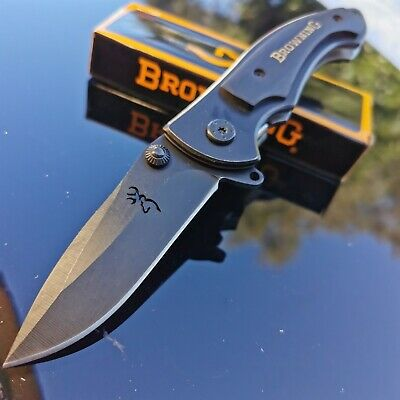 Browning 337 Folding Pocket knife black outdoor knives camping