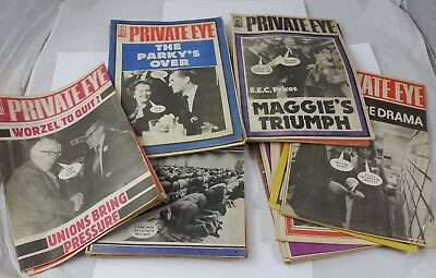 39 volumes of Private Eye Magazines from 1978-1984. Job Lot.
