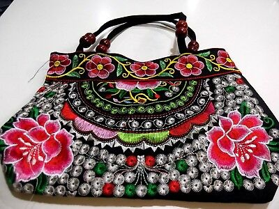 Mexican artisan embroidered handbag Multicoloured Brand NEW Fast postage