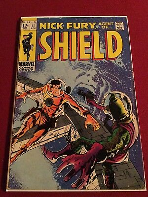 Nick Fury, Agent of SHIELD #11 (Apr 1969, Marvel)- Awesome Silver Age Fury!