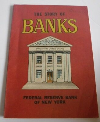 Vintage 1979 The Story of Banks Book Federal Reserve Bank of New York