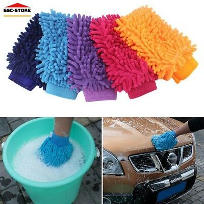 Soft Car Wash Gloves Auto Cleaning Microfiber Chenille Brush Automobile Window