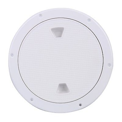 Marine 8'' Inch Screw Out Plastic White Round Boat Deck Plate Inspection Hatch