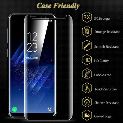 For SAMSUNG GALAXY S9 S8 Plus/Note9 Screen Protector 6D Curved Temper Glass Film