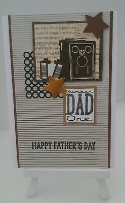 Handmade Father's Day Card: Number One Dad
