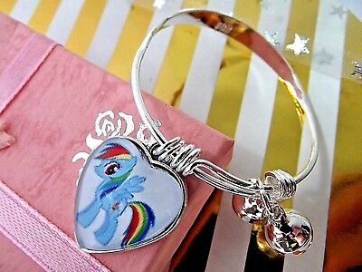 Rainbow Dash My Little Pony Heart Bracelet,Bangle Age 2 To 4 Year Gift Box Party