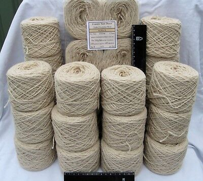 28 x 100g New 'FLEECE' Wool. 5,124m Knitting Weaving Rug Bulk Yarn.  59-3256