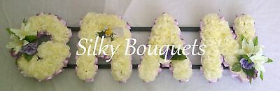 Artificial Silk Funeral Flower Gran Any 4 Letter Tribute Word Memorial Wreath