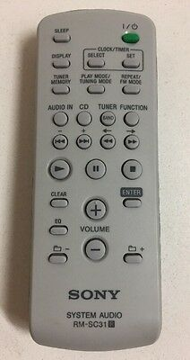 Buy sony rm-sc31 rmsc31 -a1237274a audio system remote control.