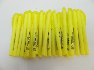 BIC Brite Liner Highlighter, Chisel Tip, Yellow, 12 Count