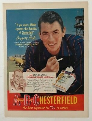 Vintage Original 1950 Chesterfield Cigarettes Print Ad Advertisement