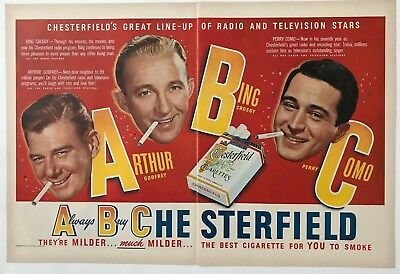 Vintage Original 1949 Chesterfield Cigarettes Print Ad Advertisement