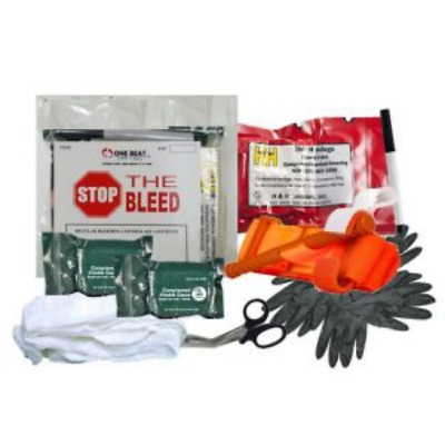 One Beat CPR Basic Bleeding Control Kit 2 - Vacuum Wrapped - BK-OBC-BK2