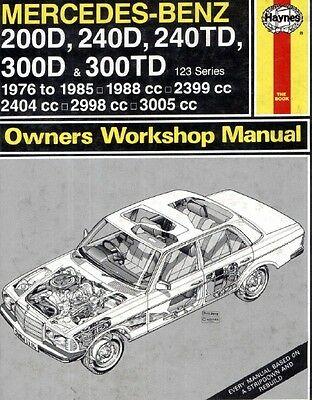 Mercedes Benz 123 Series 1976 1985 E46 Workshop Manual Service Software