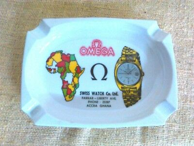 Omega Portacenere  Swiss Watch  Accra Ghana Vintage Made In Italy