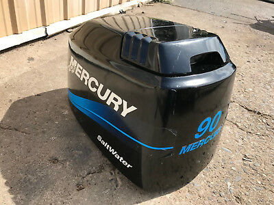 90 Hp Mercury Outboard >> 2002 Mercury 90 Hp 2 Stroke Outboard Engine Top Cowl Cover Hood