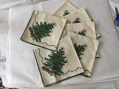 Brand New  Set Of  Six Nikko Christmas Time Dinner Napkins