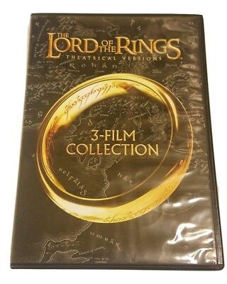 The Lord of the Rings: 3-Film Collection DVD 2014 3-Disc Set Theatrical Versions