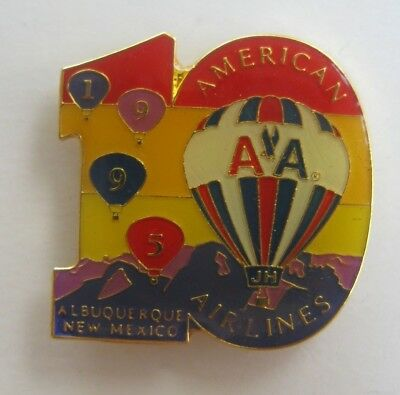 AIBF 1995 American Airlines 10th Year Hot Air Balloon Pin!!