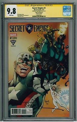 Secret Empire #1 - CGC 9.8 SS - Fried Pie Variant (sig Todd Nauck cover artist)