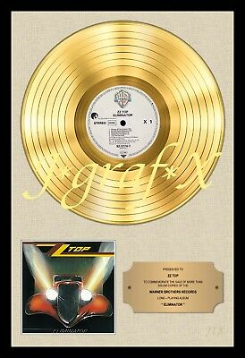 Zz Top - Eliminator - Gold Record - Poster Reproduction - Really Cool Artwork!!!