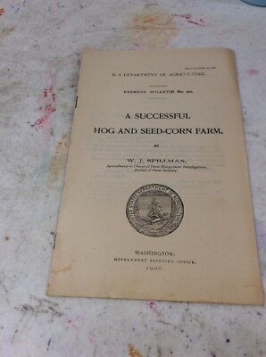 US DEPARTMENT OF AGRICULTURE FARMERS BULLETIN Dec 15 1906 Hog And Corn Seed Farm