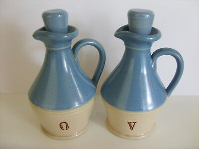 Buchan Oil And Vinegar Set With Stoppers 1950's ~~ Lovely !!