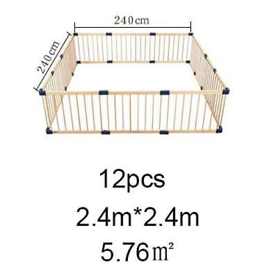 Solid Wood Baby Toddler Playpen Child Home Indoor Wooden Safety Play Yard Pen