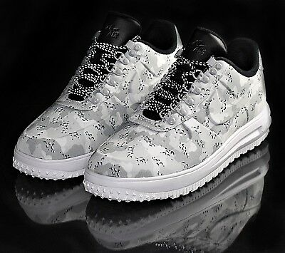 watch 1455c 7f766 Nike Lunar Force 1 Duckboot Low NEW Men's Boots Wolf Grey Pure Platinum