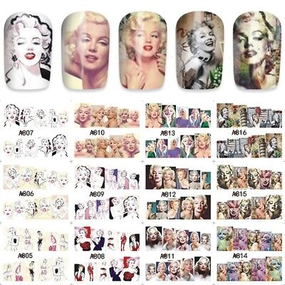 Marylin Monroe Manicure adesivi per unghie water decals tattoo nail art stickers