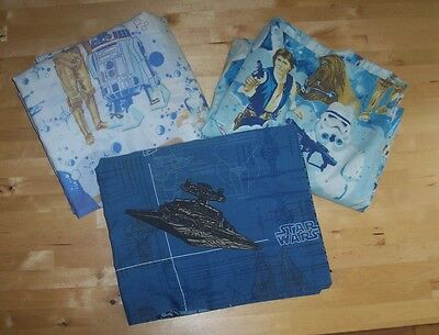 STaR WaRS A New Hope Vintage Duvet Cover Sheet Pillow Case Lot Bed Fabric Twin