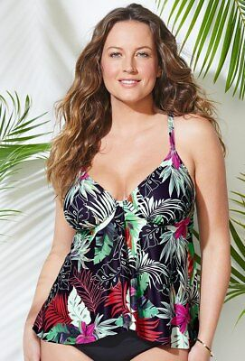 acc7d23dc5 $60 NWT HANAI Flyaway Underwire Tankini Top Sz 18 Swimsuits for all 1091