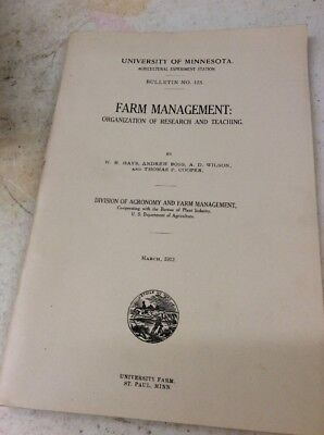 UNIVERSITY OF MINNESOTA AGRICULTURE BULLETIN 1912 Organization Of Research Teach